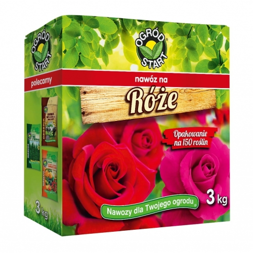Nawóz do róż 3 kg OGRÓD START na 150 roślin!